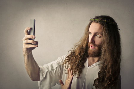 예수님은 셀카를하고 스톡 콘텐츠