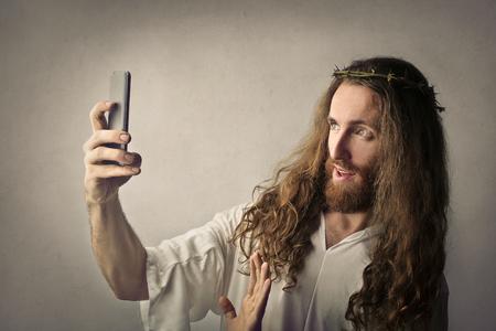 Gesù fa un selfie Archivio Fotografico - 59115192