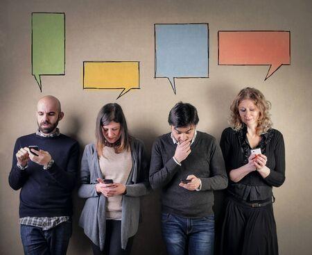 Telefon süchtig Menschen