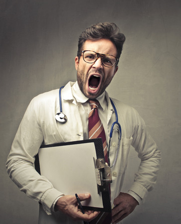 wrath: Angry doctor shouting