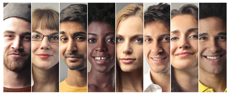 Different people smiling Stock Photo