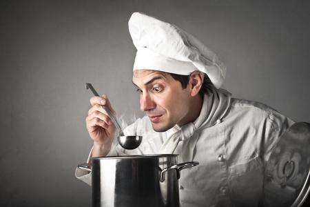 stupor: Cook savoring the meal