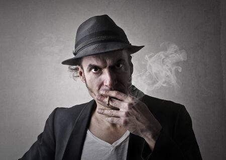 reefer: Rude man smoking