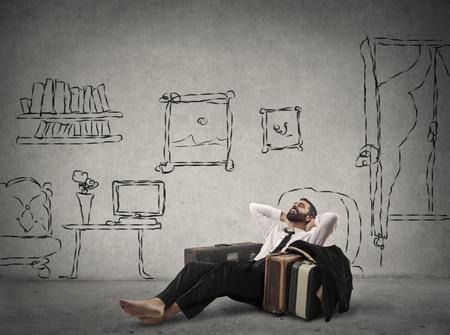 albergo: Uomo d'affari Relaxed nel suo salotto