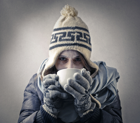 cold day: Hot drink in a cold day