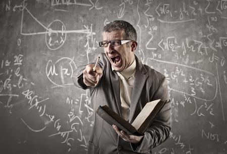 Profesor enojado gritando Foto de archivo - 59244023