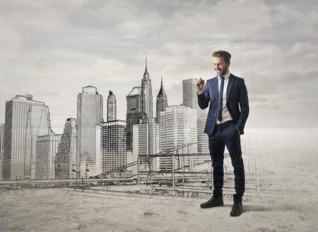 new york street: Designer of a skyline