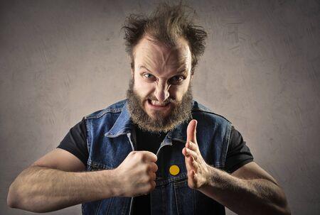 venganza: Angry man  Foto de archivo