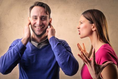 loco: Pareja en una pelea