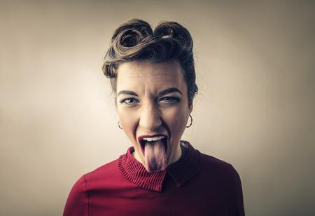 Woman doing jokes