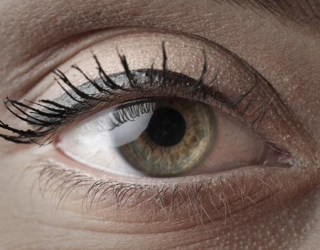 green eye: Woman with green eye Stock Photo
