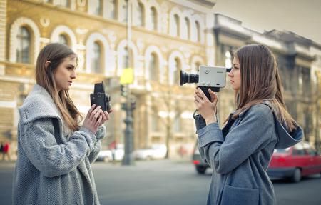 video camera: Models filming