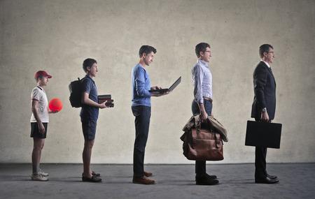 Opgroeien Stockfoto