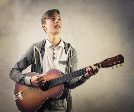 serenade: Guy playing a serenade