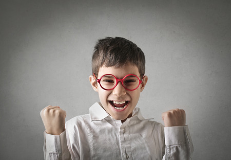 exult: Jubilant little man