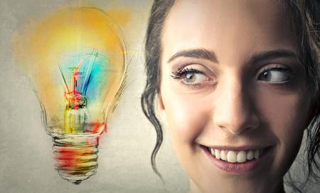 kleurrijke ideeën Stockfoto