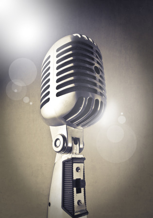 retro styled: Retro styled microphone