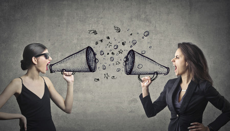controversy: Angry women shouting