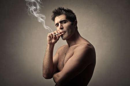 Bad boy smoking photo