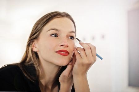 Girl wearing make up Stockfoto