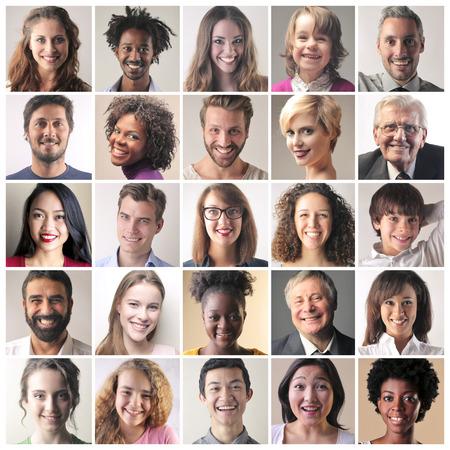 Different skin colors Standard-Bild