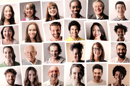 Gente sonriente Foto de archivo - 64084085