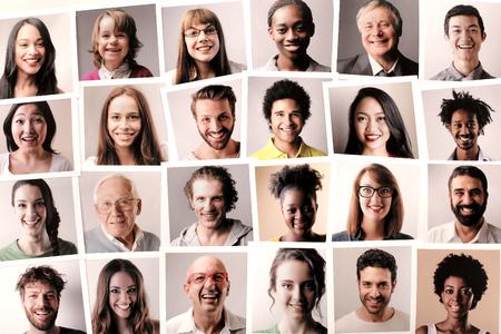 Smiling people Stockfoto