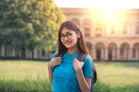 School girl posing for a portrait Stock Photo