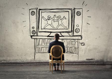 big screen: Watching a movie on a big screen