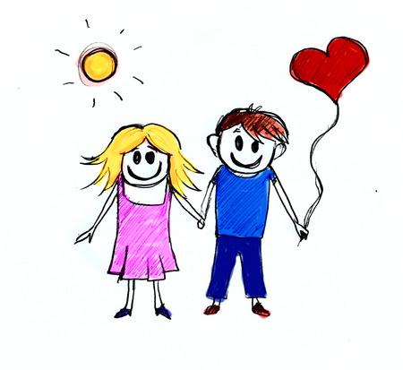 human relations: Happy couple