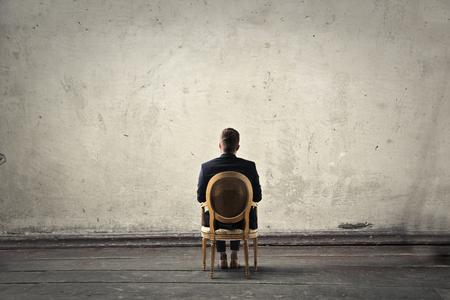 Staring at a blank wall