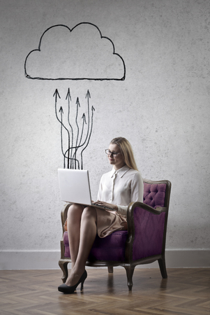 old people reading: Uploading in the Cloud
