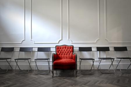 Ein besonderer Sitz für einen Gast Standard-Bild - 63848603