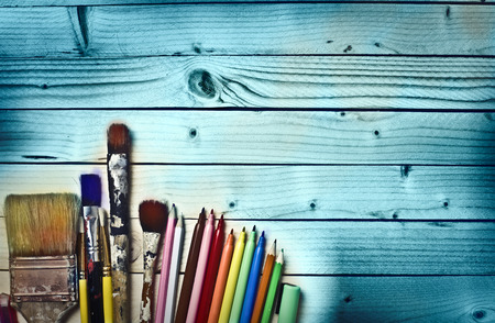 color pencils: Artists tools Stock Photo
