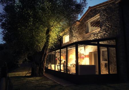 Atemberaubende Ferienhaus in der Toskana Lizenzfreie Bilder