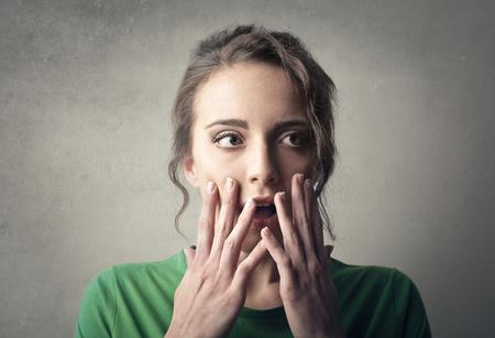 consternation: Worried woman Stock Photo