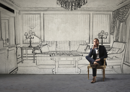 divan: En la sala de estar de lujo