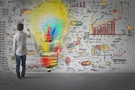 education: Dessin de nouvelles idées commerciales Banque d'images