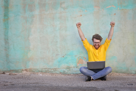 Jubilant nerd