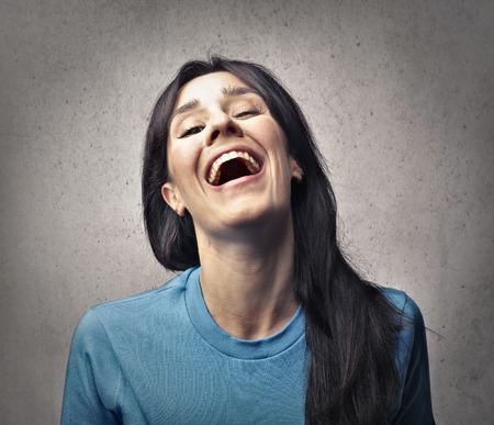 Femme de rire
