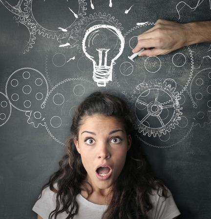 Suggesting the right idea Stock Photo