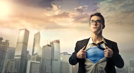 スーパーマンのような感じ 写真素材