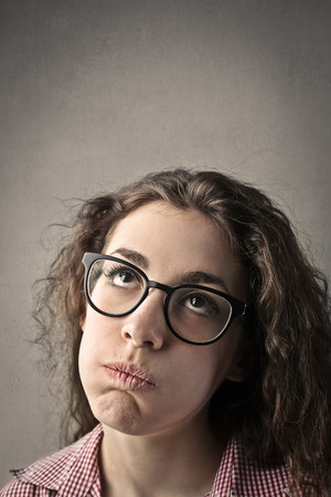 snort: Bored woman