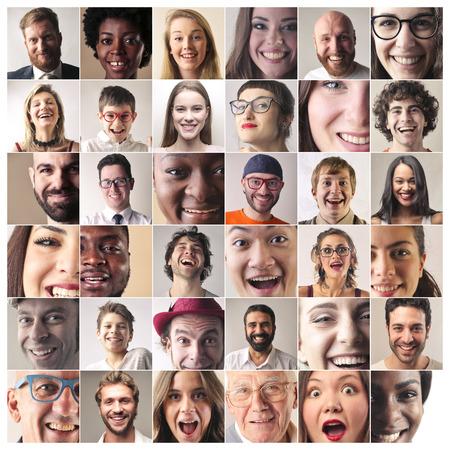 Glück auf ihren Gesichtern Standard-Bild - 65828708