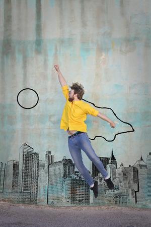 phantasy: jumping and flying high Stock Photo