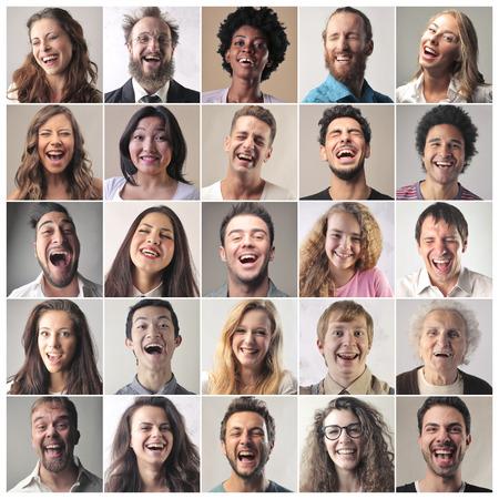 gente que se ríe Foto de archivo