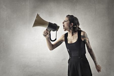 ego: Shouting into a megaphone