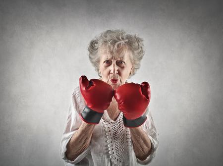 Elderly fighter Standard-Bild