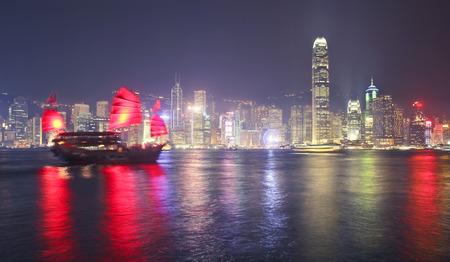 Traditional boat at Hong Kong