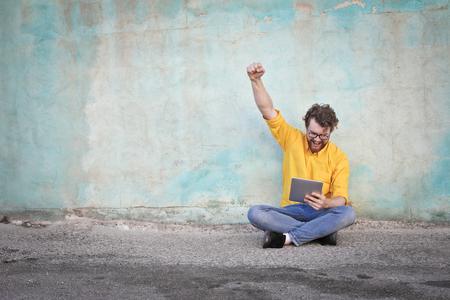 jubilate: Successful man using technology